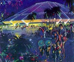 Artist's rendering of Horizons EPCOT Pavilion