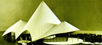 Architectural model of the Sierra Leone Pavilion