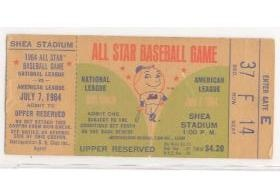 1964 All Star Game Ticket